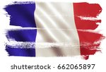 france flag background with... | Shutterstock . vector #662065897