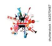 music poster for jazz festival... | Shutterstock .eps vector #662070487