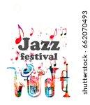 music poster for jazz festival... | Shutterstock .eps vector #662070493