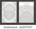invitation card for wedding or... | Shutterstock .eps vector #662075197