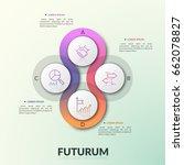 four overlapping translucent... | Shutterstock .eps vector #662078827