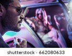 sexy couple in the car | Shutterstock . vector #662080633