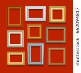 vector set of picture frames on ... | Shutterstock .eps vector #662094817