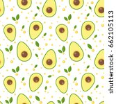 avocado seamless pattern for... | Shutterstock .eps vector #662105113