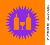 glass and bottles icon. violet... | Shutterstock .eps vector #662105383