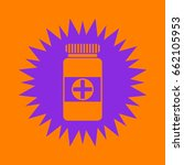 bank of pills icon. violet... | Shutterstock .eps vector #662105953