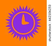 simple icon of clock. violet... | Shutterstock .eps vector #662106253