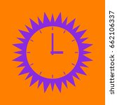simple clock icon. violet spiny ... | Shutterstock .eps vector #662106337