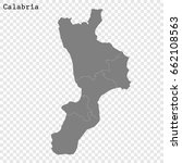 high quality map of calabria is ... | Shutterstock .eps vector #662108563