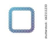 decorative award vintage square ... | Shutterstock .eps vector #662111233