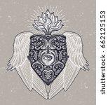 ornate mystic eye inside the... | Shutterstock .eps vector #662125153