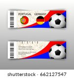 eps 10 vector football ticket... | Shutterstock .eps vector #662127547