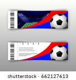 eps 10 vector football ticket... | Shutterstock .eps vector #662127613