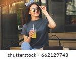 stylish beauty. portrait of... | Shutterstock . vector #662129743