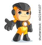 cute robot mascot cartoon...   Shutterstock .eps vector #662144107