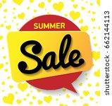 web banner sale summer. vector... | Shutterstock .eps vector #662144113