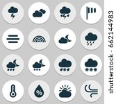 climate icons set. collection... | Shutterstock .eps vector #662144983