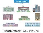 linear flat municipal building... | Shutterstock .eps vector #662145073