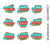 set of discount and promotional ... | Shutterstock .eps vector #662145817