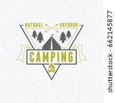 summer holidays camping poster. ... | Shutterstock .eps vector #662145877