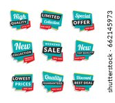 set of discount and promotional ... | Shutterstock .eps vector #662145973