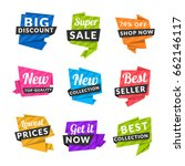 set of discount and promotional ... | Shutterstock .eps vector #662146117
