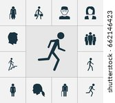 human icons set. collection of... | Shutterstock .eps vector #662146423
