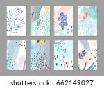 collection of creative... | Shutterstock .eps vector #662149027