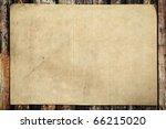 vintage paper on old wood... | Shutterstock . vector #66215020