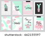 set of cute hand drawn summer... | Shutterstock .eps vector #662155597