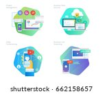 material design icons set for... | Shutterstock .eps vector #662158657