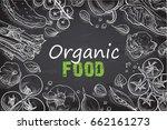 fresh vegetables background... | Shutterstock .eps vector #662161273