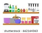 set of kitchenware | Shutterstock .eps vector #662164363