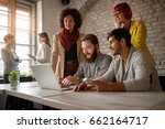 young freelance web designers... | Shutterstock . vector #662164717