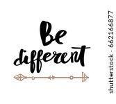 be different is beautiful card...   Shutterstock .eps vector #662166877