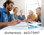 smart students from different... | Shutterstock . vector #662173447