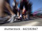 group of people running... | Shutterstock . vector #662182867