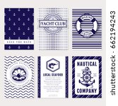marine banners  invitations and ... | Shutterstock .eps vector #662194243