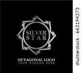 octagonal star with silver... | Shutterstock .eps vector #662194273