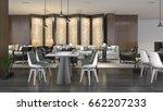 3d rendering luxury hotel... | Shutterstock . vector #662207233