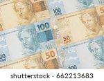 Brazilian Money Background....