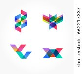 set of minimal geometric... | Shutterstock .eps vector #662217337