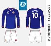 set of long sleeve soccer... | Shutterstock .eps vector #662219233