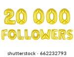 gold alphabet balloons  20k ... | Shutterstock . vector #662232793