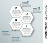 vector abstract 3d paper... | Shutterstock .eps vector #662240257