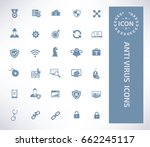 anti virus icon set clean vector | Shutterstock .eps vector #662245117