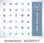 anti virus icon set clean vector | Shutterstock .eps vector #662245117