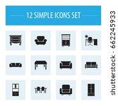 set of 12 editable furnishings...