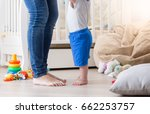 10 months old baby learning how ...   Shutterstock . vector #662253757