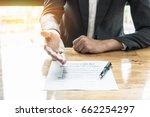 close up business man waiting... | Shutterstock . vector #662254297